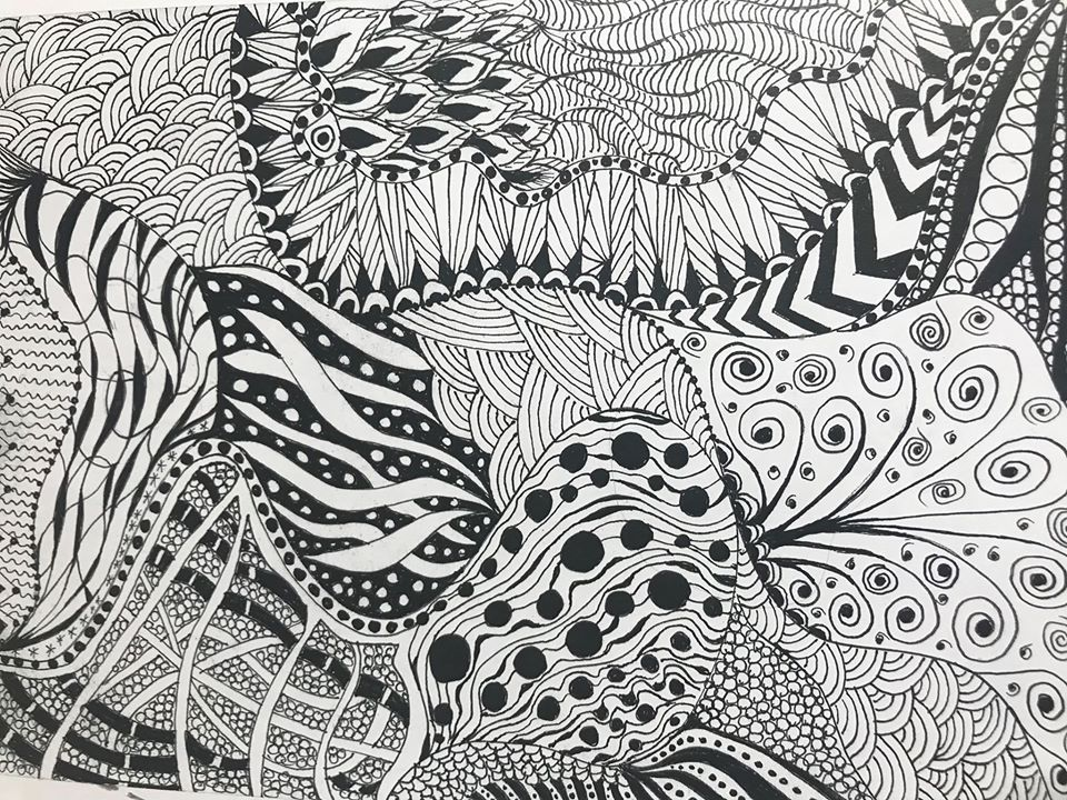Zentangle drawing workshop