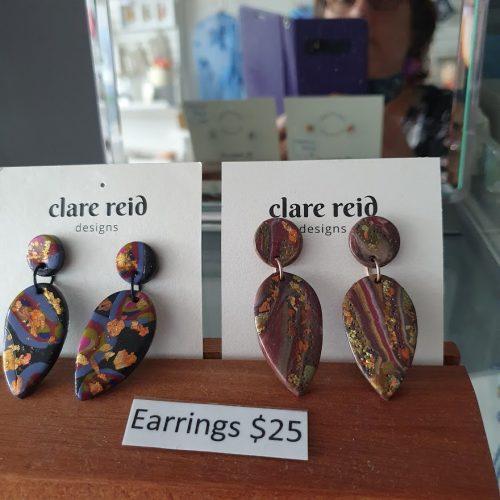 Clare Reid earrings Scattered Arts