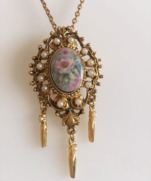 Porcelain necklace Michele Renshaw