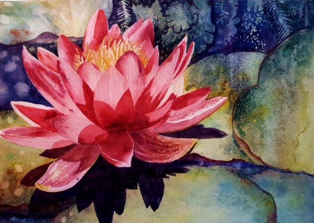 Watercolour flower Amie Dupuy